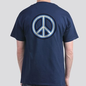 Blue Peace Symbol Dark T-Shirt