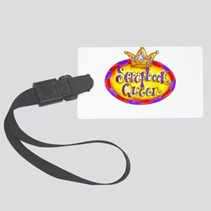 Scrapbook Queen Crown Large Luggage Tag
