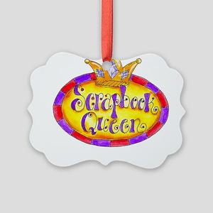 Scrapbook Queen Crown Picture Ornament