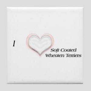 Wheaten I Heart Tile Coaster
