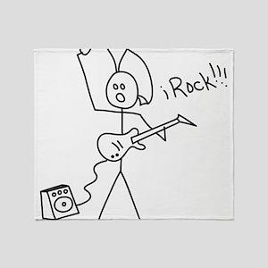iRock Stick Man with Mohawk Plays Electric Guitar