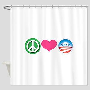 Peace, Love, Obama Shower Curtain