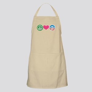 Peace, Love, Obama Apron