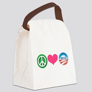 Peace, Love, Obama Canvas Lunch Bag
