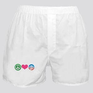 Peace, Love, Obama Boxer Shorts