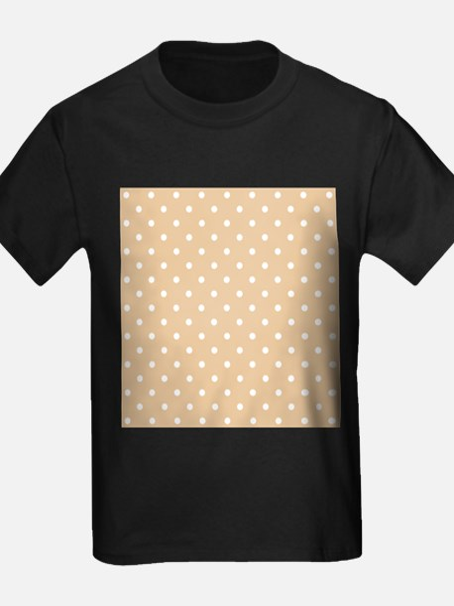Beige and White Dot Design. T