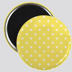 Yellow and White Dot Design. Magnet