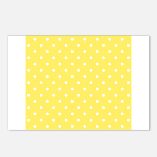 Yellow and White Dot Design. Postcards (Package of