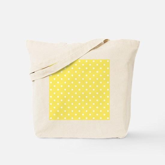 Yellow and White Dot Design. Tote Bag
