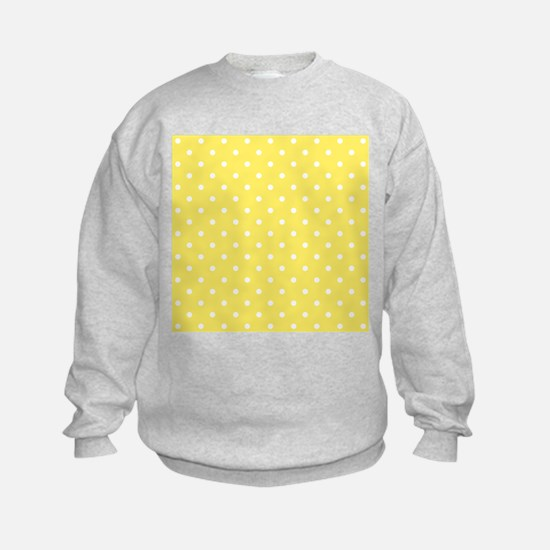 Yellow and White Dot Design. Sweatshirt