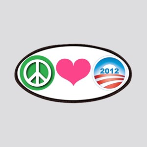 Peace, Love, Obama Patches