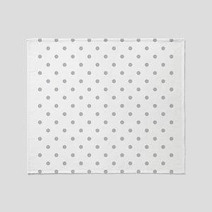 Light Gray Dot Pattern. Throw Blanket