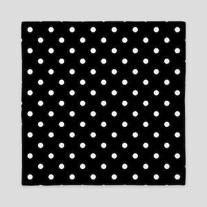 Black and White Polka Dot. Queen Duvet
