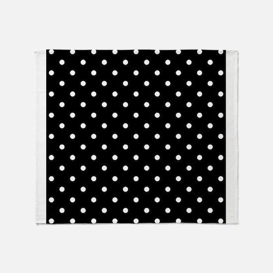 Black and White Polka Dot. Throw Blanket