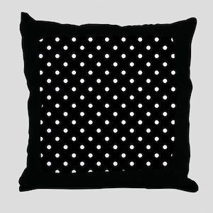 Black and White Polka Dot. Throw Pillow
