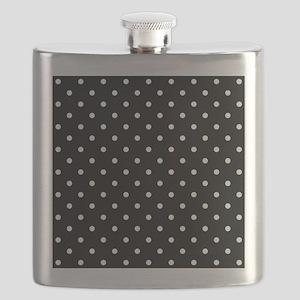 Black and White Polka Dot. Flask