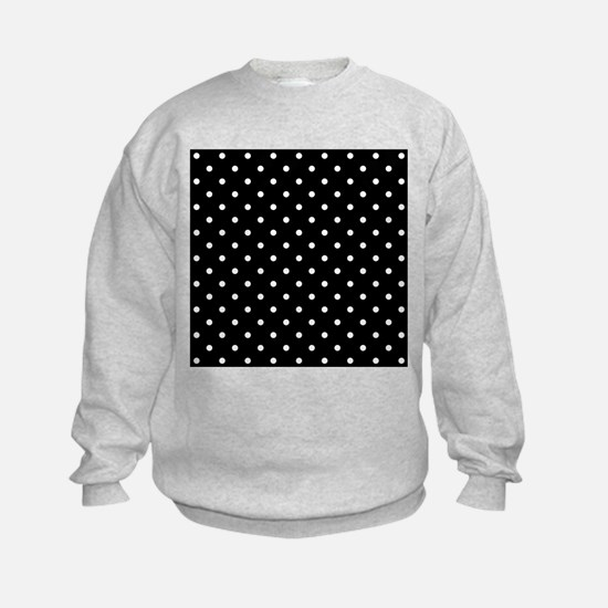 Black and White Polka Dot. Sweatshirt