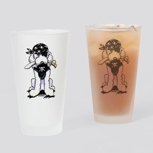 Poodle Pirate Drinking Glass