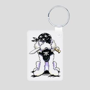 Poodle Pirate Aluminum Photo Keychain