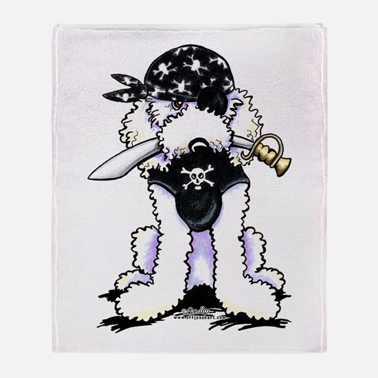 Poodle Pirate Throw Blanket
