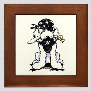 Poodle Pirate Framed Tile