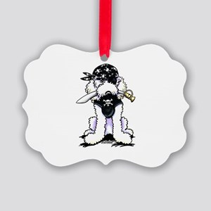 Poodle Pirate Picture Ornament