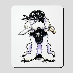 Poodle Pirate Mousepad