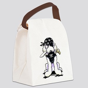 Poodle Pirate Canvas Lunch Bag