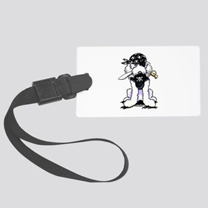 Poodle Pirate Large Luggage Tag
