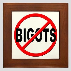 Anti / No Bigots Framed Tile