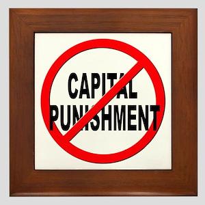 Anti / No Capital Punishment Framed Tile
