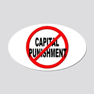 Anti / No Capital Punishment 20x12 Oval Wall Decal