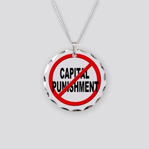 Anti / No Capital Punishment Necklace Circle Charm
