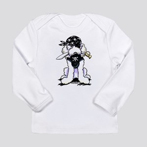 Poodle Pirate Long Sleeve Infant T-Shirt