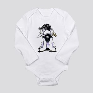 Poodle Pirate Long Sleeve Infant Bodysuit