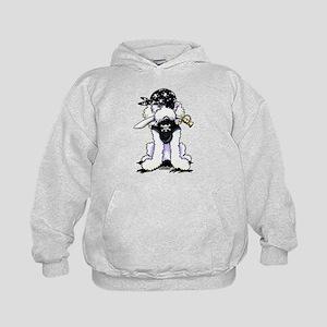Poodle Pirate Kids Hoodie