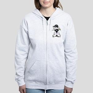 Poodle Pirate Women's Zip Hoodie