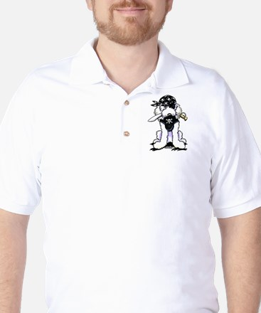 Poodle Pirate Golf Shirt