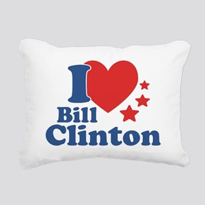 I Love Bill Clinton Rectangular Canvas Pillow