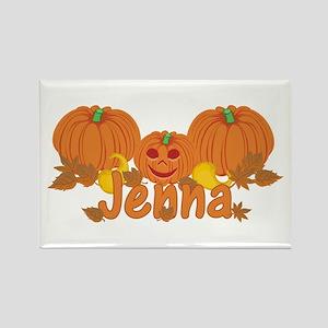 Halloween Pumpkin Jenna Rectangle Magnet