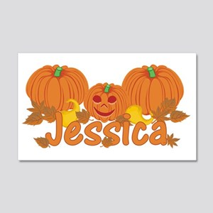 Halloween Pumpkin Jessica 20x12 Wall Decal