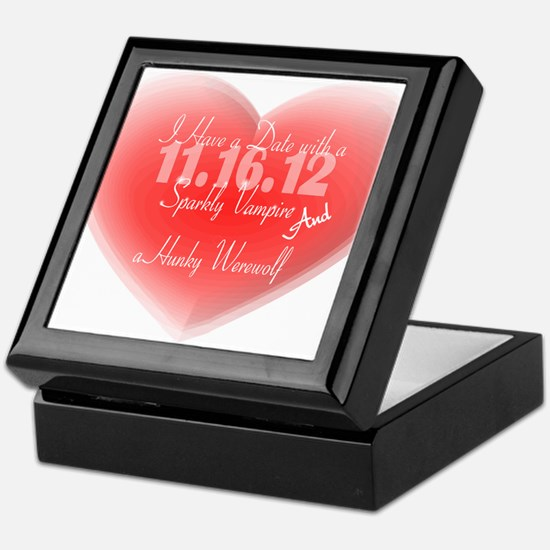 Date with a Vampire and a Werewolf Keepsake Box