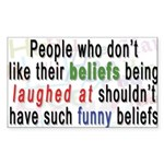 funny_beliefs-sticker Sticker (Rectangle 10 pk)