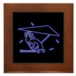 Kokopelli Hang Glider Framed Tile