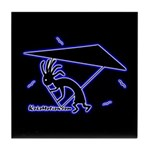Kokopelli Hang Glider Tile Coaster