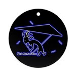 Kokopelli Hang Glider Ornament (Round)