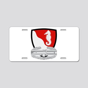 36th Engineers CAB Aluminum License Plate