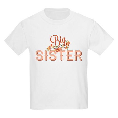 Floral Big Sister Kids Light T-Shirt