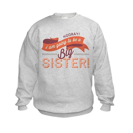 Wavy Big Sister Banner Kids Sweatshirt