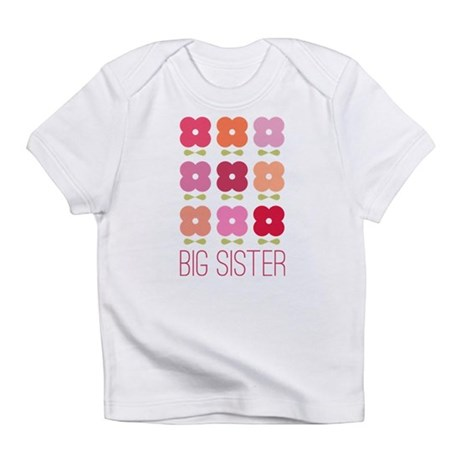 Big Sister Flowers Infant T-Shirt